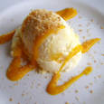マンゴーとココナッツのアイスクリーム