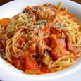 菜園風トマトソーススパゲティ