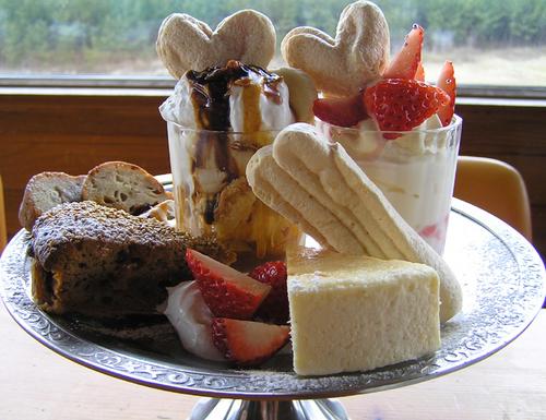 特注デザートの盛り合わせ