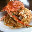 たらば蟹のスパゲッティ