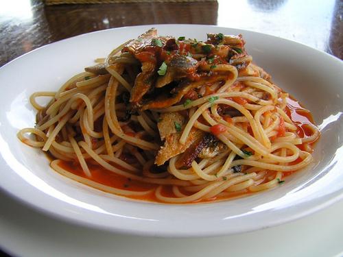 秋刀魚のスパゲッティー