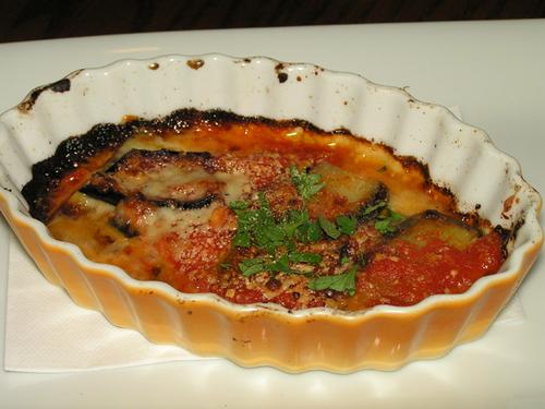 秋茄子とトマトのパルマ風グラタン