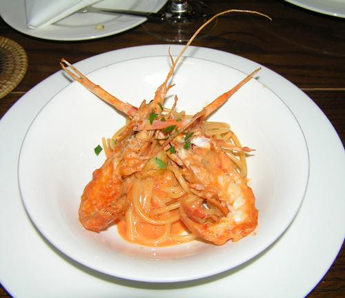 スカンピのトマトクリームスパゲティ